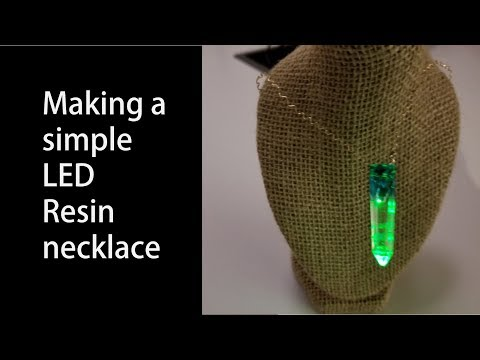Making a LED Resin necklace