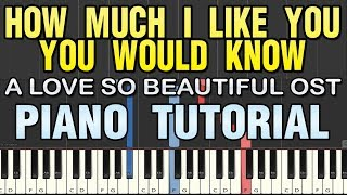 How Much I Like You You Would Know A Love So Beautiful Opening Theme Song Piano Tutorial