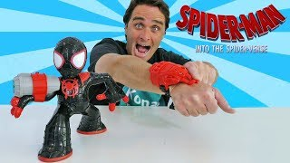 Spider Man Into the Spider Verse Shockstrike Miles Morles Spiderman ! || Toy Review || Konas2002