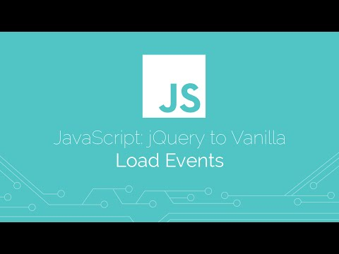 JavaScript: Browser - Load Events