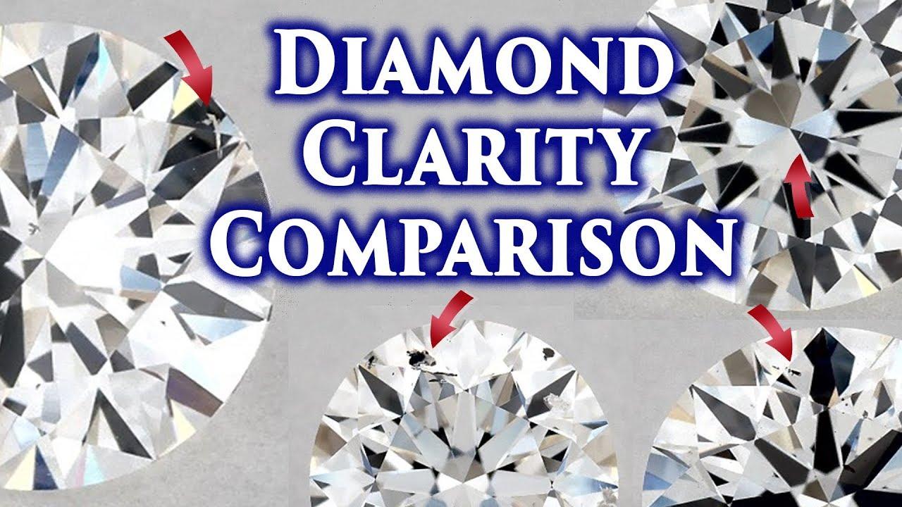 Diamond clarity comparison vs vs vs si si vvs vvs  if   fl ring chart explained scale si also rh youtube