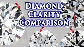 Diamond Clarity Comparison VS1 vs VS2 SI1 SI2 VVS1 VVS2 I1 IF I2 I3 FL Ring Chart Explained Scale SI