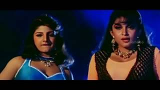 Alluda Majaka Movie Scenes   Ramya Krishna & Ramba tries to entice Chiranjeevi   Ramya Krishna