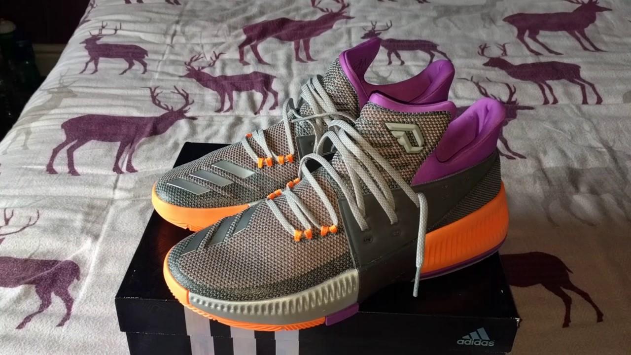 promo code 87eda 189a4 Adidas D Lillard 3 aka Dame 3 ASWASG All Star Sneakers