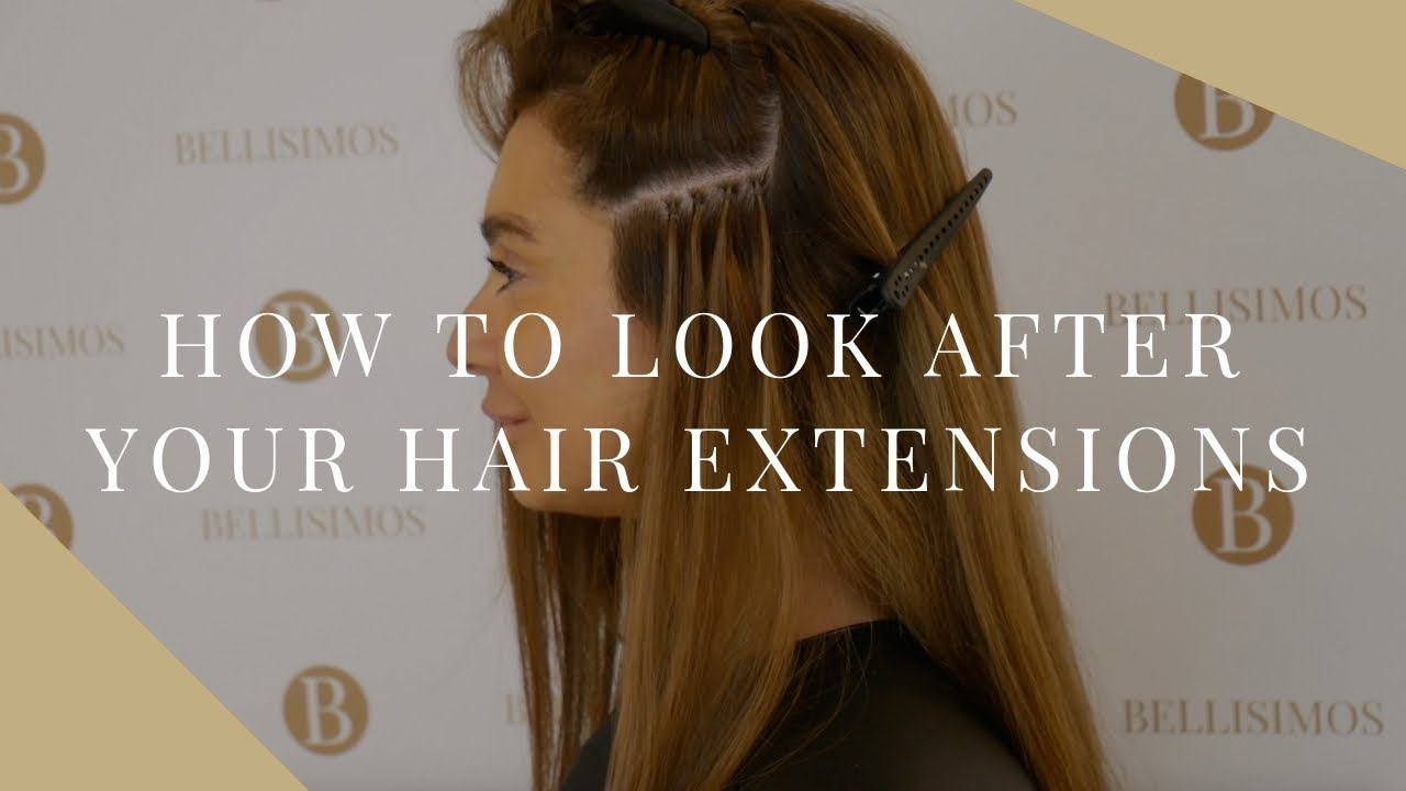 Hair Extensions Aftercare Hairdressers Cardiff Youtube