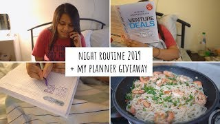 Night Routine 2019 + My Planner Giveaway | Indian Night Routine | Night Routine India