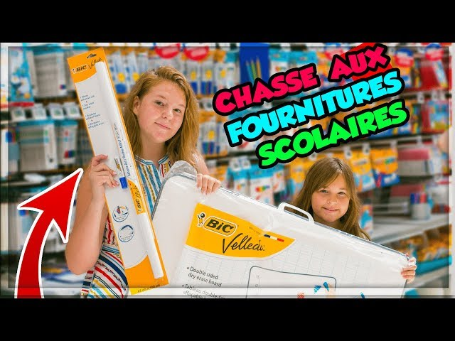 CHASSE AUX FOURNITURES SCOLAIRES POUR ELINA ! BACK TO SCHOOL CHALLENGE !