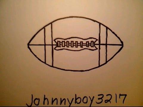 how to draw a football como dibujar una pelota de futbol nfl college player field easy fifa soccer youtube