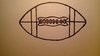 How To Draw A Football NFL College Player Field Easy & Simple Fun 2 Draw FIFA soccer ball