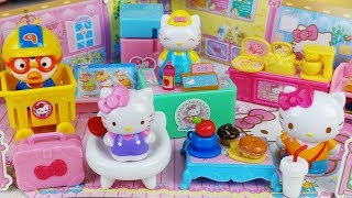 Hello Kitty mart and house car toys Baby doll kitchen play - 토이몽