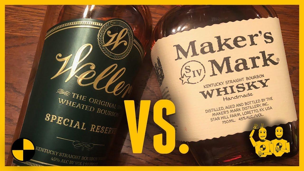 Weller Special Reserve Versus Maker S Mark Wheated Bourbon Battle Baby 515