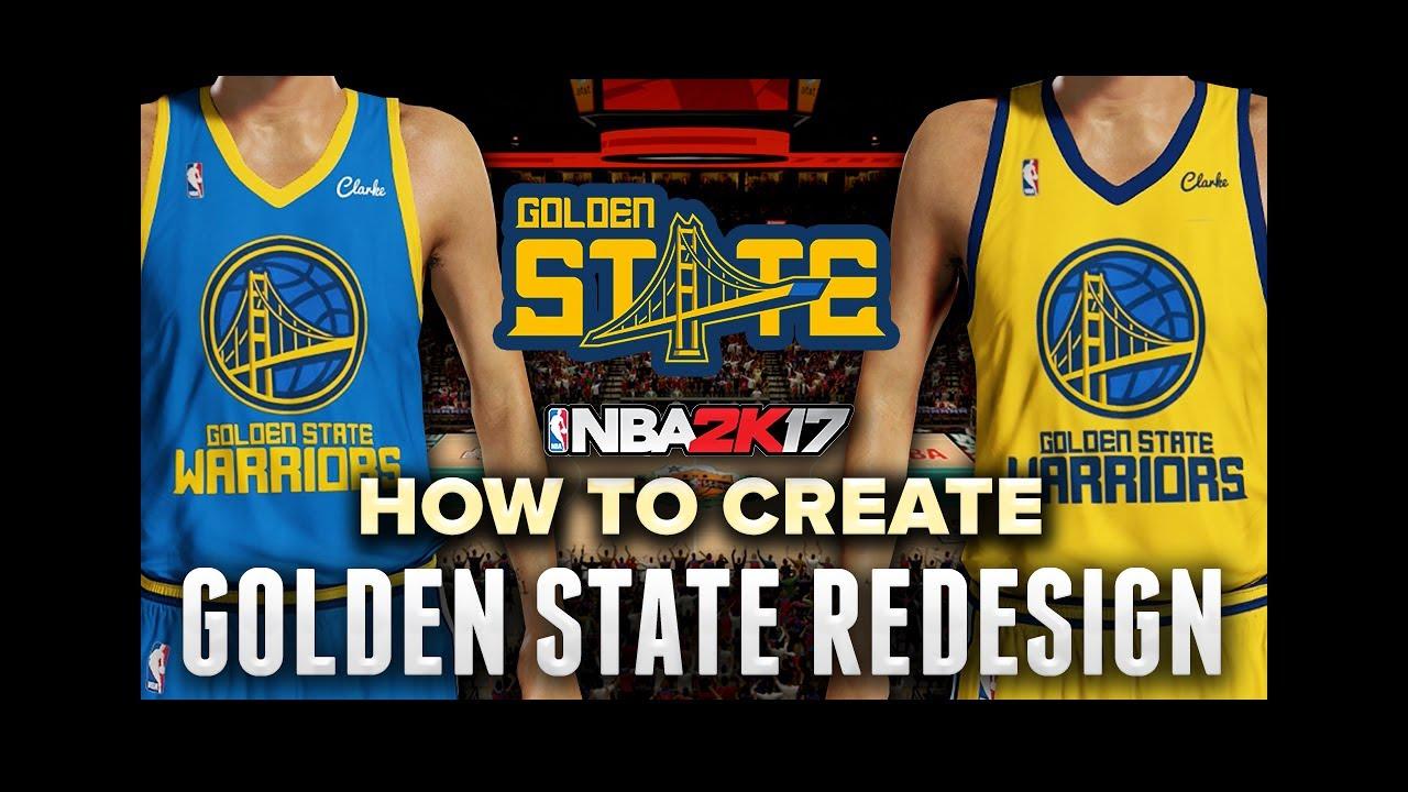 NBA 2K17 MY TEAM - Golden State Warriors Jersey + Court Redesign