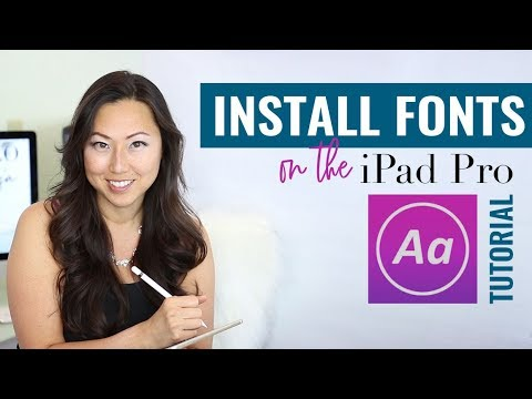 Uploading Fonts To Your IPad // How To Install Fonts On Your IPad // Using Custom Fonts On Your IPad