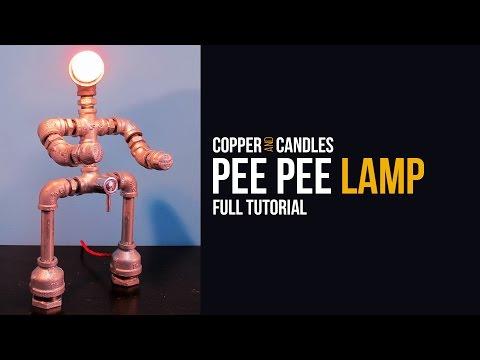 DIY Galvanized Pipe Lamp Industrial Design Water Valve Light Switch Tutorial