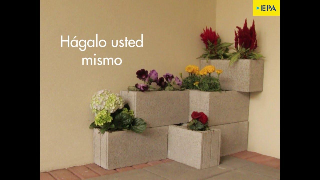 Haga su propio jard n de bloques youtube for Adornos con plantas de nochebuena