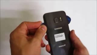 Como remover la tapa trasera de Samsung Galaxy S7