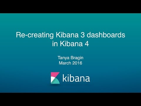 Recreating Kibana 3 Dashboards in Kibana 4