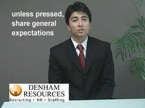 Job Interview Tips. What Are Your Salary Expectations? Example Of A Good  Answer.