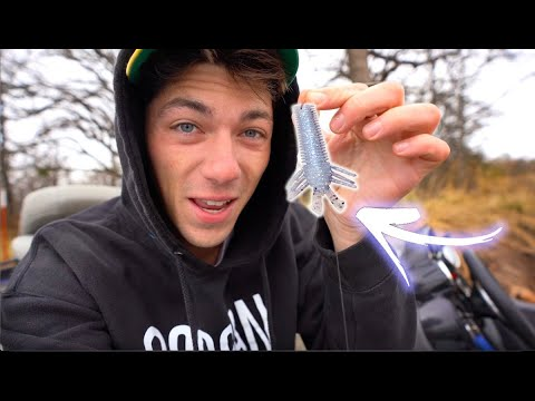 Finessing MICRO Lures For MEGA Fish (Winter Fishing)