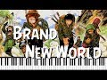 Synthesia Piano Tutorial One Piece Opening 6 Brand New World mp3