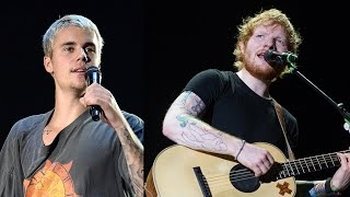 "Ed Sheeran Sings NSFW Cover Of Justin Bieber's ""Love Yourself"" & Jokes About Face Scar"