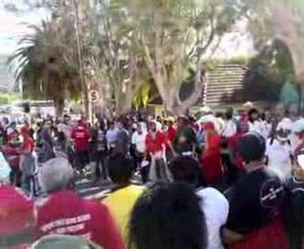 Cosatu marchers in Cape Town