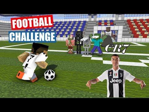 Monster School : FOOTBALL CHALLENGE With Cristiano Ronaldo (FULL EPISODE) - Minecraft Animation