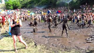 Ozora Festival 2011: People dancing in the mud 3