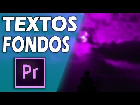 ¿Cómo poner TEXTOS Y FONDOS en Adobe Premiere Pro? | Tutorial como crear títulos en Premiere cc thumbnail