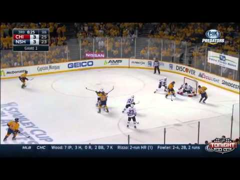 Nashville Predators vs Chicago Blackhawks WCQF Game 1 Highlights