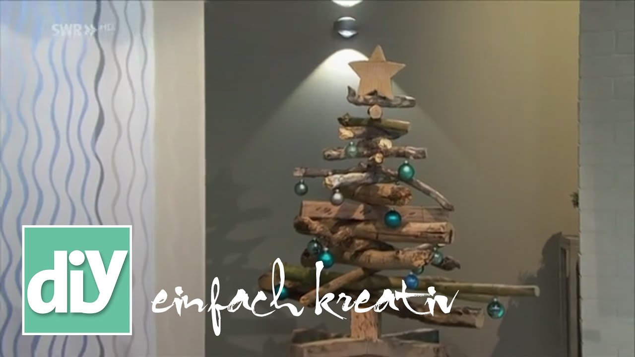 weihnachtsbaum aus treibholz diy einfach kreativ youtube. Black Bedroom Furniture Sets. Home Design Ideas