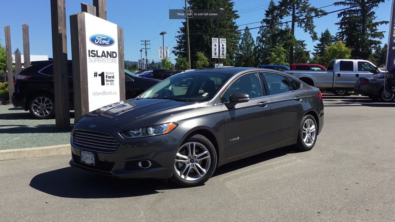 2016 Ford Fusion Hybrid Se Backup Camera Heated Seats Review Island