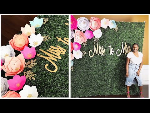 Set up and Deliver with Me   Boxwood Hedge Backdrop with decor   NO PLYWOOD   HOW TO