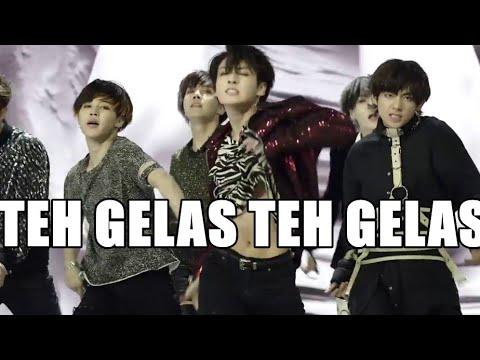 """(Parodi Ngawur Lirik) BTS - Fake Love """"Teh Gelas"""" [Misheard Indonesia Version] FANBOY FT FANGIRL"""