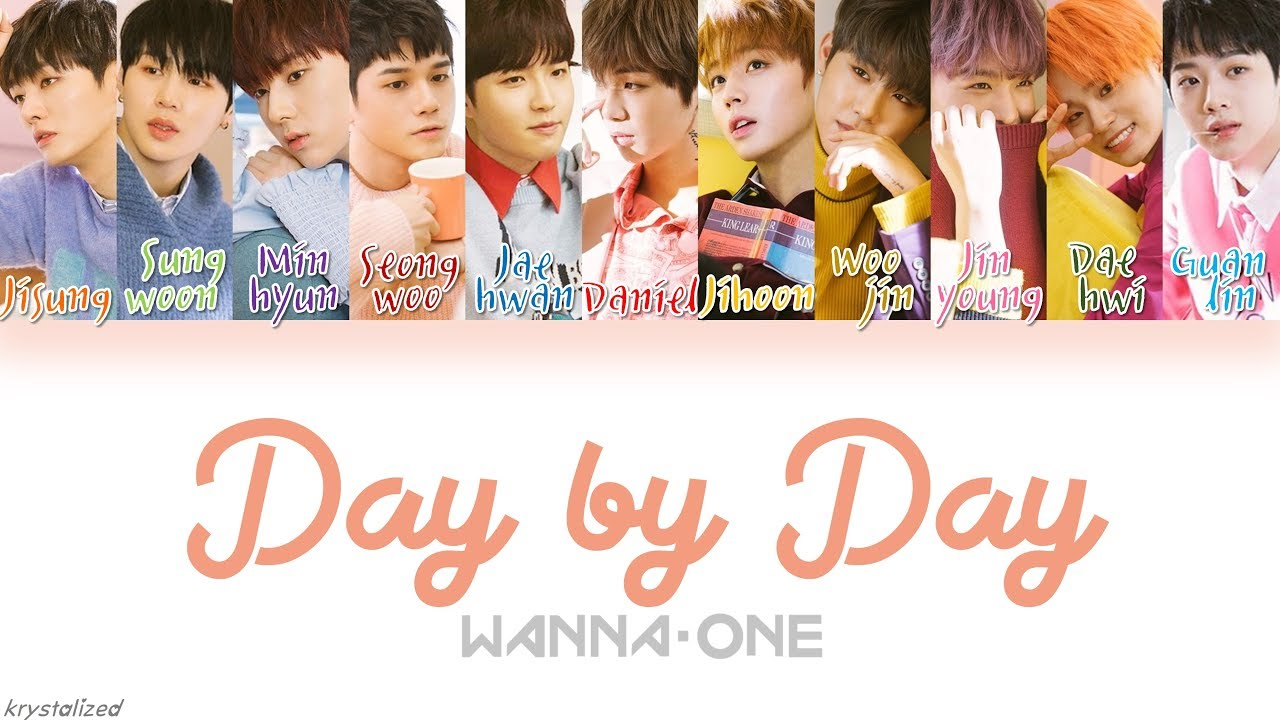 wanna one 워너원 보여 day by day l han rom eng color coded