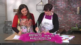 Learn abstract painting techniques on Make It Artsy with Dina Wakley (411-2)