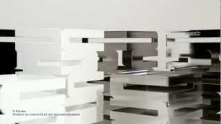 Rosseto - Skycap Square Multi-level Buffet Risers & Glass Shelves
