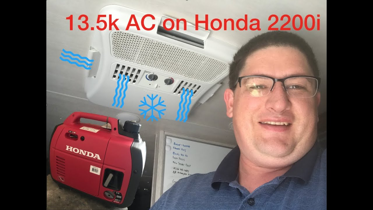 Honda 2200i Running 13 5k Ac Unit On Rv