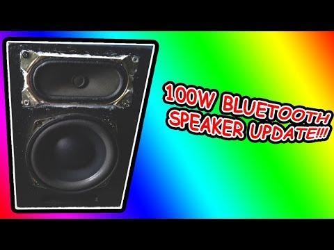 100W DIY Homemade Bluetooth Speaker[TDA7492P](UPDATE VID.)