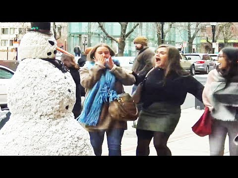 Scary Snowman Prank 2018 S8 E4