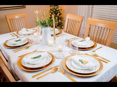 Christmas Tablescape - Christmas Table Setting Decoration