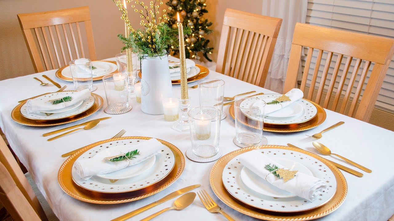 Christmas Tablescape Table Setting Decoration