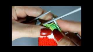 Вяжем арбузные носочки  Часть 5 - От пятки до мыска
