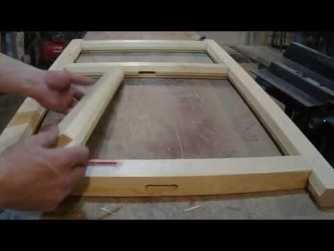 видео: Простой оконный блок - 3, Сборка рам