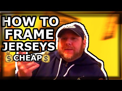 HOW TO FRAME A FOOTBALL JERSEY CHEAP \u0026 FAST $21 IN 5 MINUTES