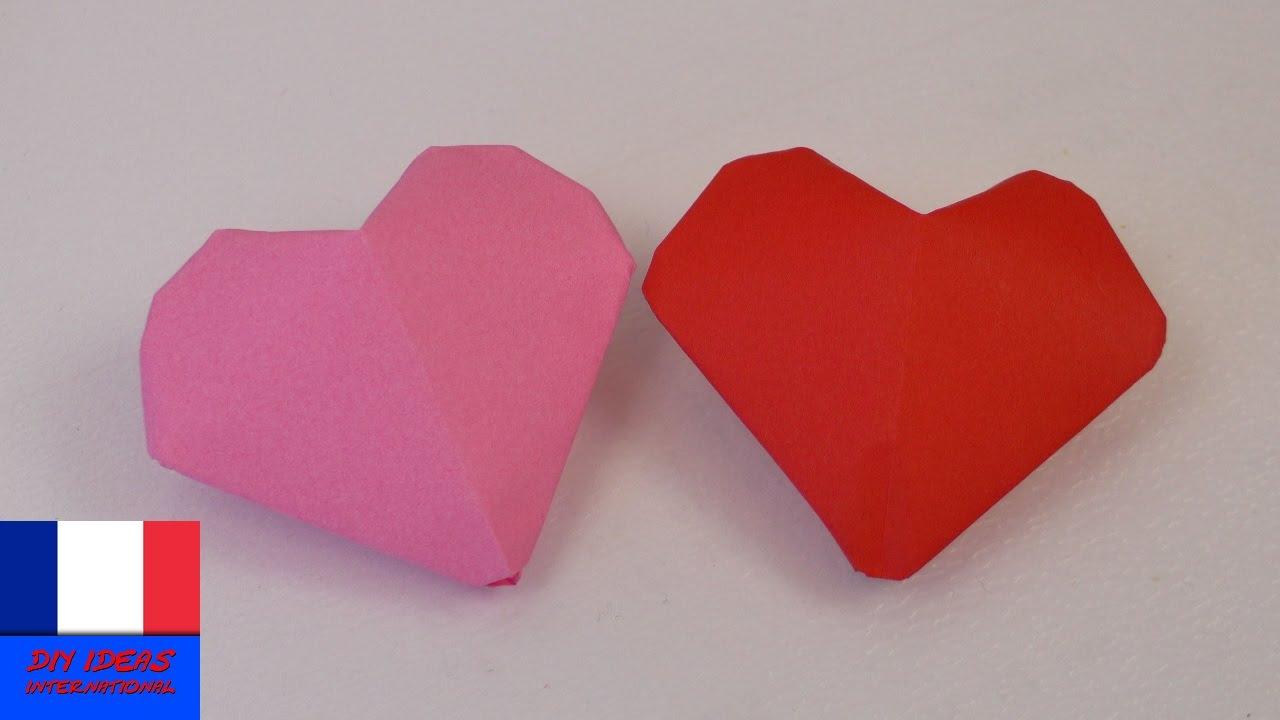 c ur 3d origami petits c urs gonfler simple mignon saint valentin youtube. Black Bedroom Furniture Sets. Home Design Ideas
