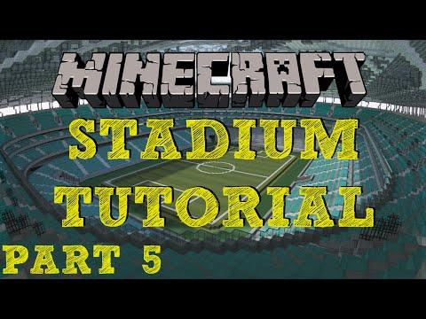 Minecraft Stadium Tutorial - Part 5 - Stairs & Tunnels (crowd exits/entrances)