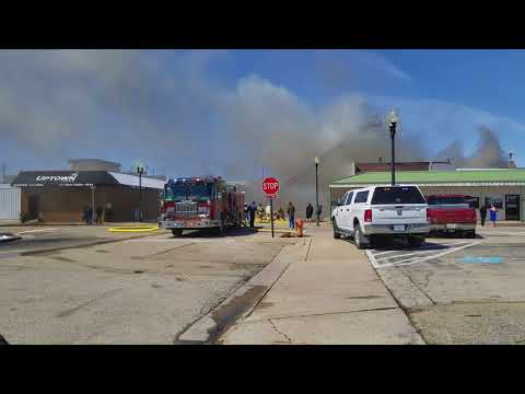 Fire at The Cave, Byron, Illinois
