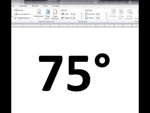 How To Insert Degree Symbol In MS Word?