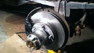 Front disk brake conversion on a 1963 Willys jeep Gladiator on a budget